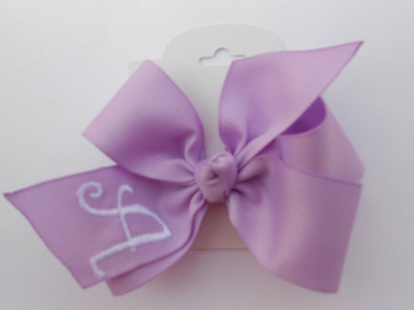 Lavender Initial Bow