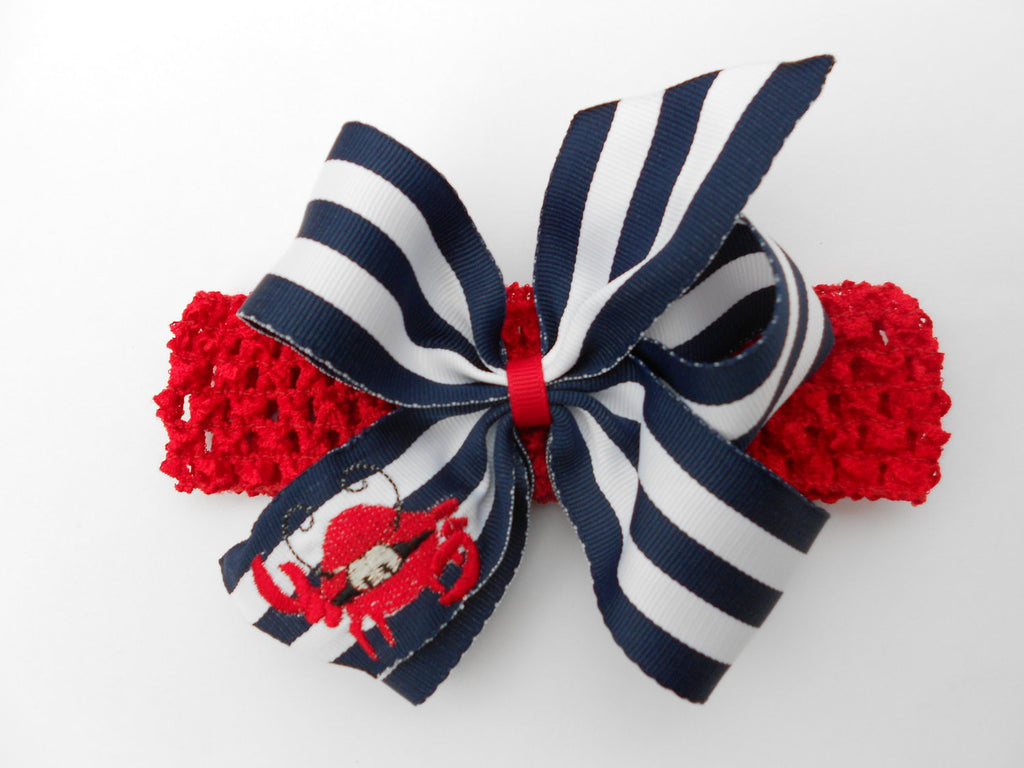 Striped Crab Headband