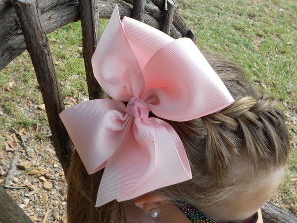 Monogram Hair Bow, Large Pink Hairbow, Custom Boutique Bow, Hair Accessories Barrettes Clips Customized Hair Bow Extra Large Bow Tie Easter