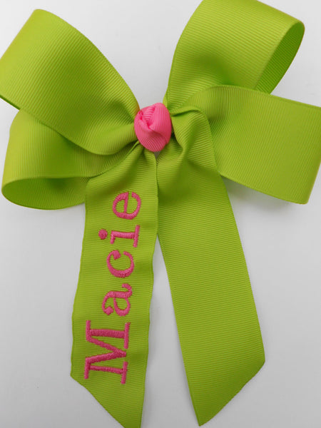 Name Monogrammed, Hair Bow, Custom Boutique, Personalized Gift, Monogram Kids, Girls Bows, Embroidery, Summer Tween, Party Ideas, Cheer