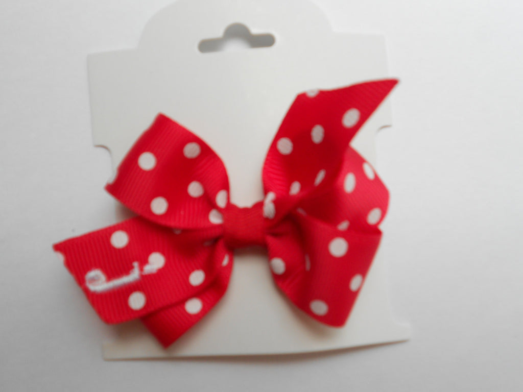 Red Dot Baby Bow