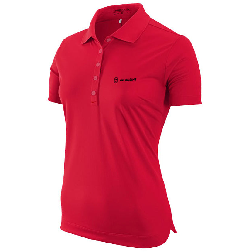 Woodbine Golf Shirt, Red - Ladies