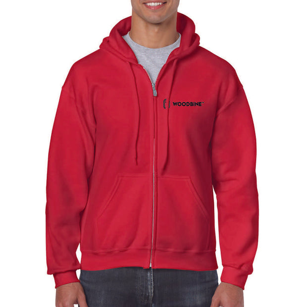 Woodbine Full Zip Hoodie, Red - Unisex