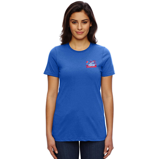 PNAC 2018 T-shirt, Royal Blue - Ladies