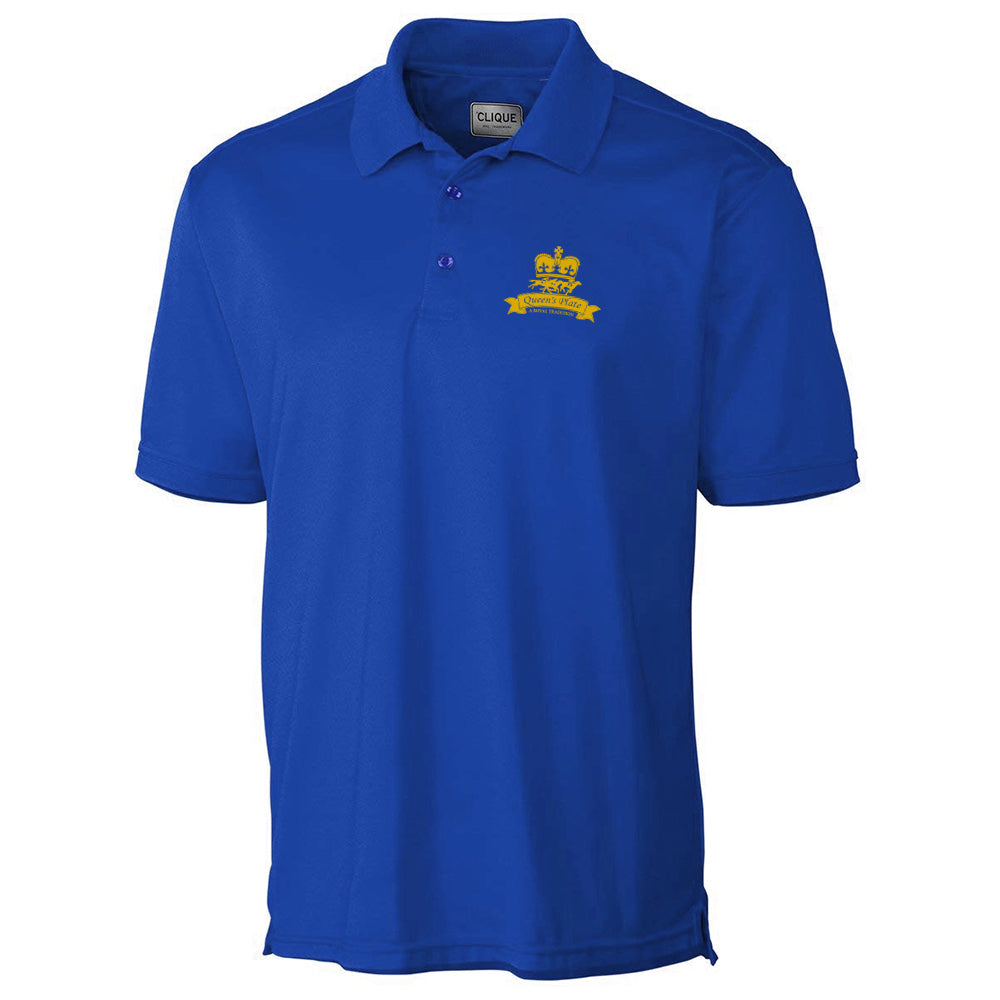 Queen's Plate Golf Shirt, Blue - Men's