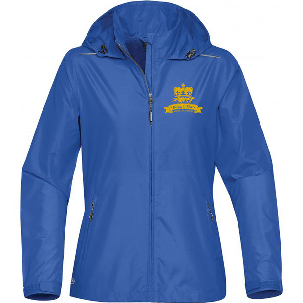 Queen's Plate Windbreaker Jacket, Light Blue - Ladies