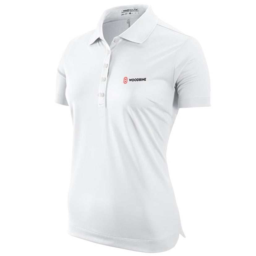 Woodbine Golf Shirt, White - Ladies