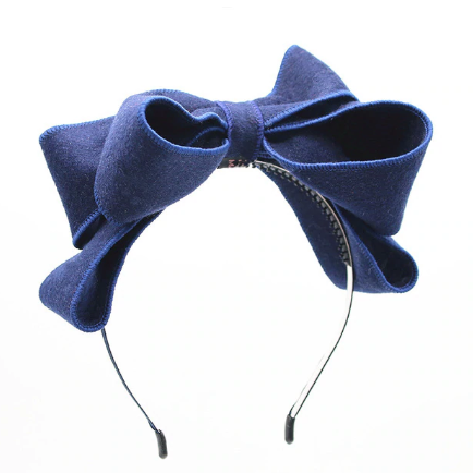 Wool bow headband