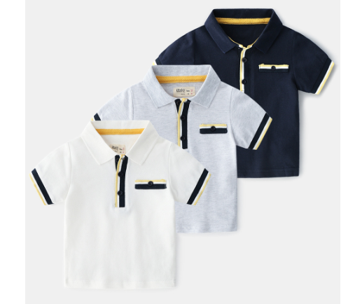 Stripe trim polo