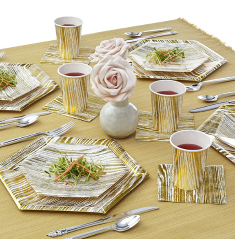 Brushed stripe tableware (set)