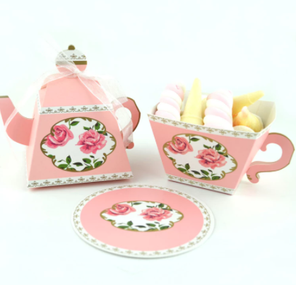 Tea cup favor set 10 pc