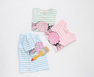 Striped candy tee