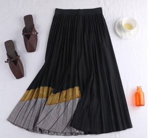 Combo pleated skirt