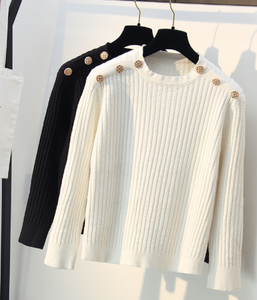 Shoulder buttons sweater