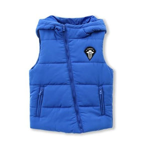 Diagonal zipper puffer vest