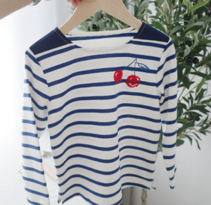 Striped cherry tshirt