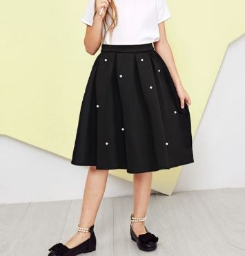 Pleated pearl skirt