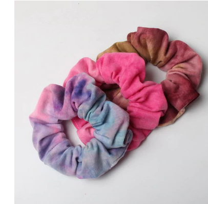 Tie dye scrunchie 3 pc.