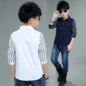 Stripe sleeve shirt