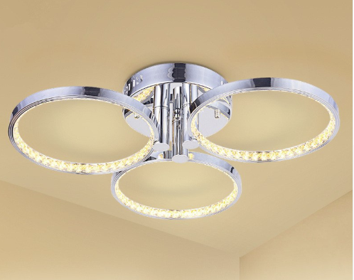 Crystal rings ceiling lamp