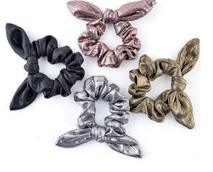 Metallic hair ties