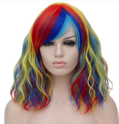 Colorful wig