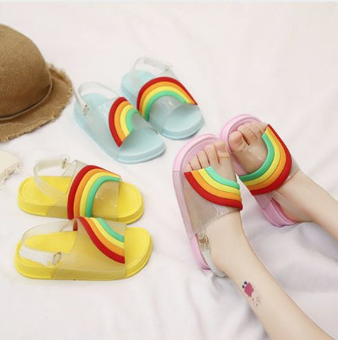 Rainbow pool shoes
