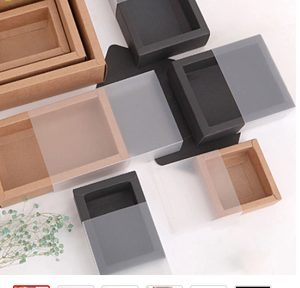 Kraft box with transparent cover 10 pc