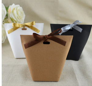 Kraft bag with bow 50 pc