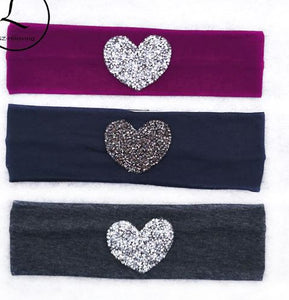 Rhinestone heart headband