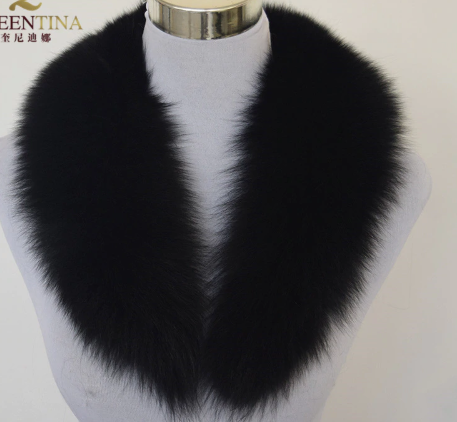 Real fur collar