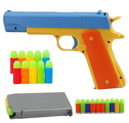 Toy gun with bullets