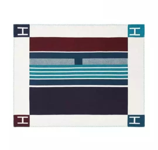 H colorblock throw