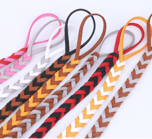 Two color braided pacifier clip