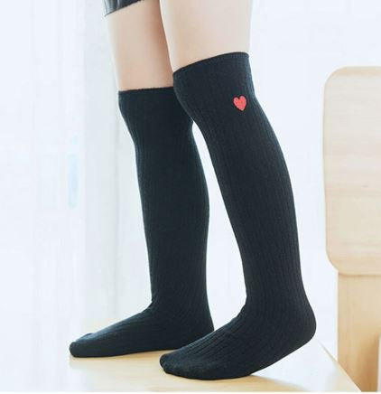 Heart ribbed socks