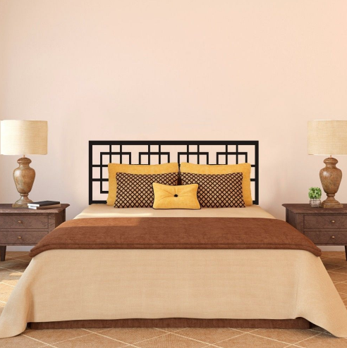 Modern headboard decal