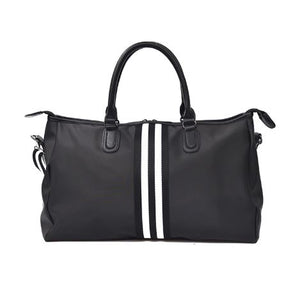 Stripe overnight bag