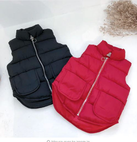 Large pocket puffer vest