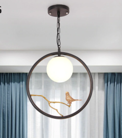 Bird pendant lamp
