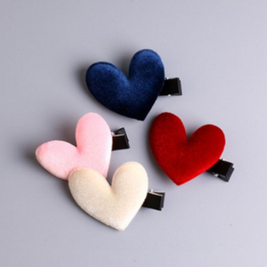 Velvet heart clip 2 pc.
