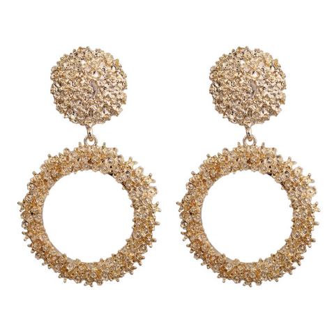 Round statement earrings