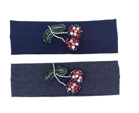 Cherry applique headband