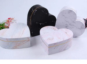 Marble heart box 3 pc