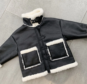 Fleece detail coat