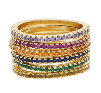 Rainbow stackable rings