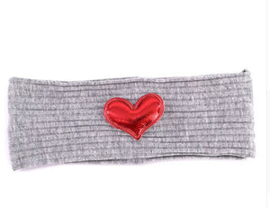 Ribbed heart headband