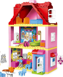 Large building toy house with parts