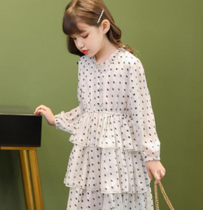 Dot layered dress
