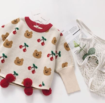 Cherry bear knit