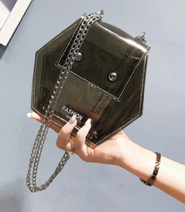 Transparent hexagon bag